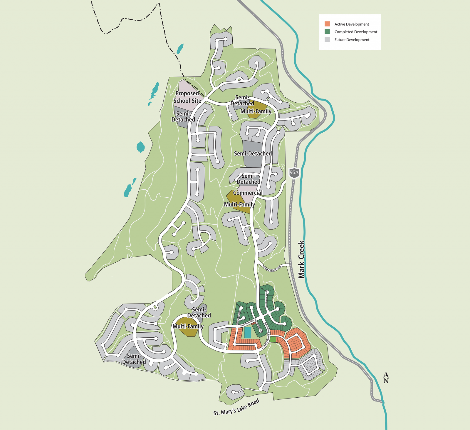Forest Crowne Community Map